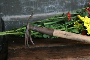 Antique Garden Hoe Rustic Garden Tool Vintage Planting Tool Farmhouse Decor