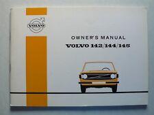 Volvo 142/144/145 Owner's Manual Betriebsanleitung, 8.1972, 88 Seiten, englisch