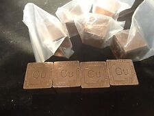 COPPER 10 OZ CUBE-SQUARE-DEALER  LOT OF 48 -480 OUNCES  99.9% PURE FINE COPPER