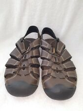 Sonoma Mens Size 11.5 M Brown Leather Sandals Fisherman