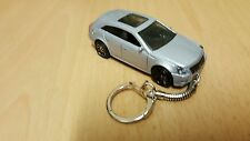 Diecast Cadillac CTS Estate Station Wagon Silver Toy Car Keyring Keychain
