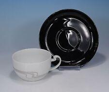 """Rosenthal """"asimmetria trébol/porcelaine noire"""" taza de té & platillo"""