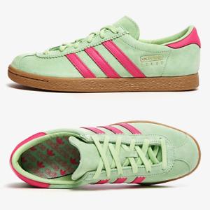 adidas Originals Stadt Mens Trainers Green Pink Suede SIZE 7 10