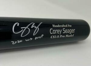 "COREY SEAGER Autographed ""2020 WS MVP"" Dodgers Game Model Bat FANATICS"