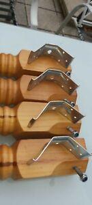 Pine wood turned table legs Set of 4.