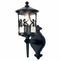 Elstead Lighting Hereford Outdoor Wall Up Lantern Light Black