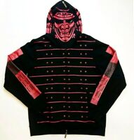 LRG MENS 100% AUTHENTIC LONG SLEEVE ZIPUP JACKET BLACK/RED RARE NICE NEW 1OF1