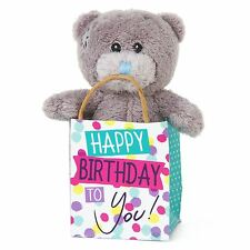 "Me to You Happy Birthday 3"" Plush In Gift Bag Gifts Birthdays - Tatty Teddy Bear"