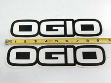 (2) Ogio Stickers (MX Motocross Sponsor Dirt Bike Sticker Luggage Bag O'gio)