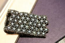 BRACELET stretch metal chain 46mm inks rhinestone flowers