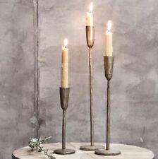 Brass Candlesticks Set Of 3 Candle Stick Holder, Antique Gold Nkuku Mbata Rustic