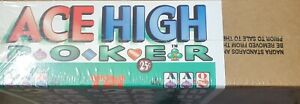 ACE HIGH 25 CENT PULL TAB INSTANT GAME TICKET COUNT 2400 PROFIT $318.00
