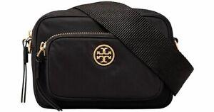 Tory Burch Piper MIni Nylon Crossbody Pouch Camera Bag~NWT~ Black