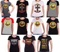 Guns N Roses T Shirt LA Troubadour Flyer new Official Womens Skinny Fit Black