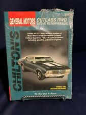 GM OLDSMOBILE CUTLASS  RWD 1970-87 NEW IN WRAPPER Chilton's  Manual  0801986680