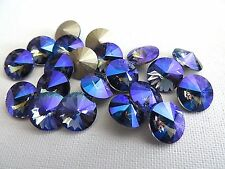 6 Tanzanite Glacier Blue Swarovski Crystal Rivoli Stone 1122 39ss 8mm