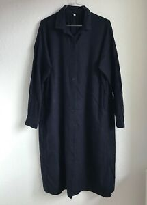 MUJI Flanellkleid / Baumwollkleid / Kleid dunkelblau Größe XS/S 34/36 NEU!