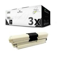 3x MWT Pro Cartuccia Nero Per OKI ES-3451-DN ES-5430-DN ES-5461-DN