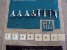 63-65 66 67 68 69 70 71 72 Pontiac GTO Judge Lemans License Plate Screws NOS Kit