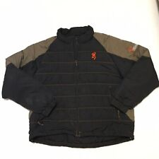 Browning Hells Canyon Black Puffer Coat Duck Down Filled Mens XL