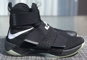NIKE LEBRON SOLDIER 10 ID SIZE 10 Black White Clear