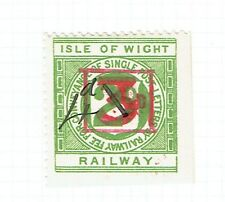 Isle of Wight 1920 4d on 3d on 2d green Railway Letter stamp mint
