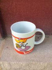 VINTAGE NOS COFFEE MUG #059- Loacker Little Girl Flowers Logo