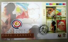 2015 POPE FRANCIS Stamp 4 VALUE on FDC Vatican Philippines with plate NUMBER B/4