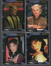 BABYLON 5 SPECIAL ED SKYBOX 1997 LIMITED FACES OF DELENN 4 CHASE CARD SET D1-D4