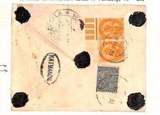 Ap86 1933 INDIA USED NEPAL Bagmati Pari Gurkha Officer Letter KATMANDU Oval