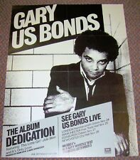 "GARY US BONDS STUNNING U.K. PROMO POSTER ""DEDICATION"" ALBUM & CONCERT DATES 1981"