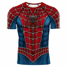 SPIDERMAN TOBEY MAGUIRE COMPRESSION SHIRT RASH GUARD LIKE UNDER ARMOUR ALTER EGO