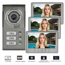 """Kit Videocitofono Trifamiliare Telecamera 3 Monitor 7 """" Smart Apriporta Lussuoso"""