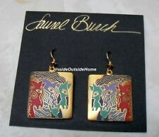 Laurel Burch Moroccan Mares Horses Earrings Brights Sandstone Gold Tone Retired