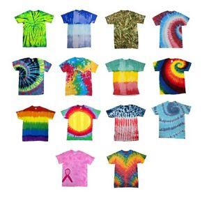 Tie Dye T-Shirts Special Designs Adult Colortone 100% Cotton 5.3 Oz