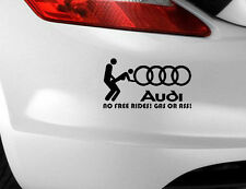 AUDI n. libero Gass o ASS Auto Adesivo Divertenti Novità etichetta euro JDM / paraurti / Decalcomania