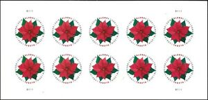 US 5311 Holiday Poinsettia global forever sheet (10 stamps) MNH 2018