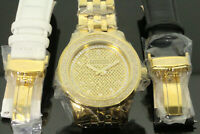 1 carat Mens New Tycoon Real Diamond Watch Illusion Dial Stainless Steel