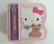 Hello Kitty Lunch Container Bento Box with Fork/Spoon Sanrio Vintage 2006