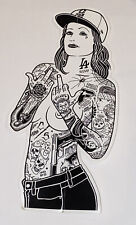 Mike Giant Rebel 8 Sticker Tattoo Topless Woman Limited Edition