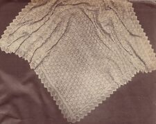 "VINTAGE DIAMOND SHAWL / 4ply sq 48"" - COPY baby shawl knitting pattern"