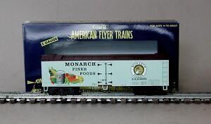 Lionel American Flyer 6-49955 Monarch Foods Wood Side Refrigerator Car