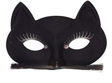Ladies Black Cat Eye Mask Eyemask Cat Woman Catwoman Halloween Fancy Dress
