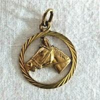 Gold Anhänger  Pferdekopf  8Kt= 333 Echtgold  18 mm