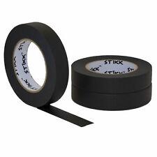 3 Pack 1 Inch X 60yd Rolls 24mm X 55m Stikk Black Painters Masking Tape