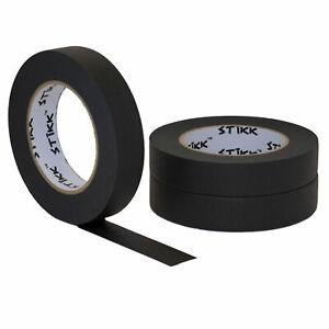 "3 pack 1"" inch x 60yd Rolls (24mm x 55m) STIKK Black Painters Masking Tape"