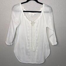H&M White Peasant Blouse