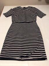 Top Shop Petite Size 4 Dress Black White Stripes Work Smart