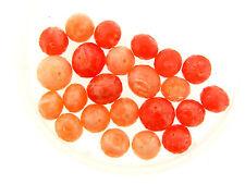 Vintage German Peach & Tangerine Mix Crackle Givre Faceted Orbit Lucite Bead Lot