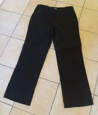 Kooky Ladies Black Full Length Trousers Pants Fly Zip - Size 14